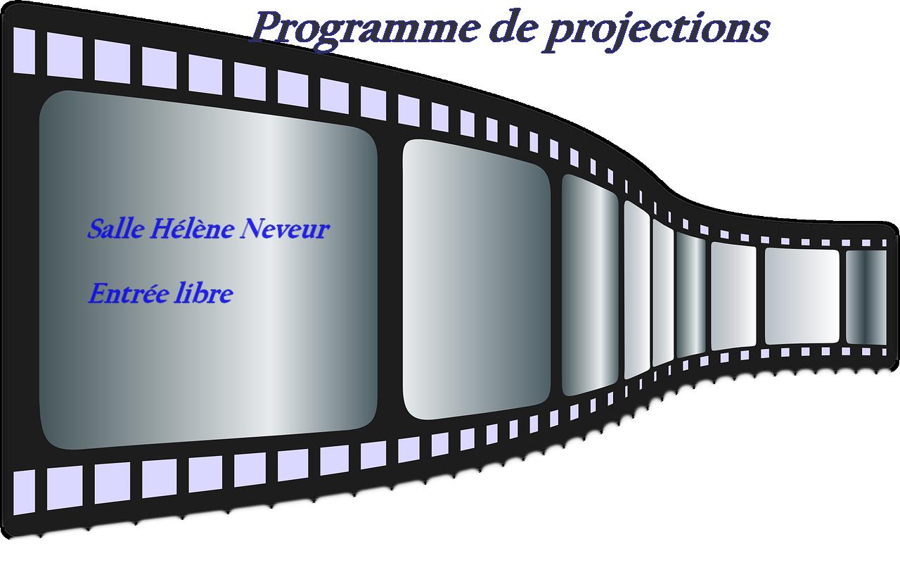 Le programme des projections