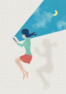 jeune femme en train de lire